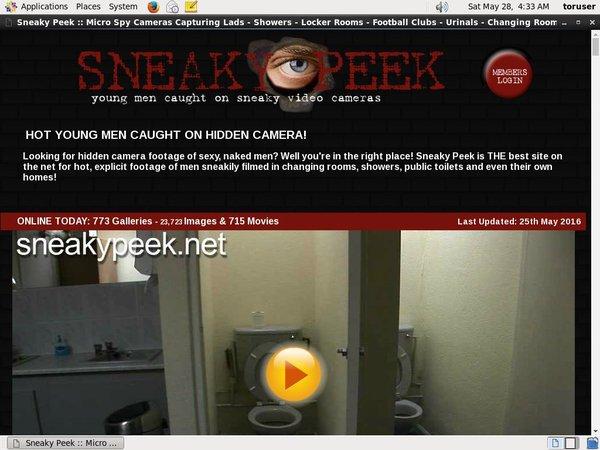 Sneaky Peek Hacked Account