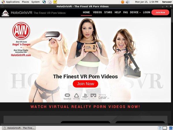 HoloGirlsVR Vendo Page